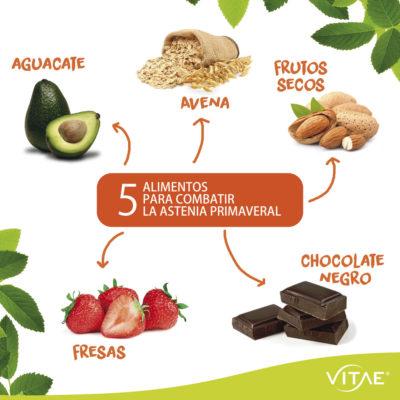 Alimentos recomendados para prevenir la astenia primaveral