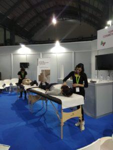 Masajistas Vitae en Expo Salud